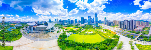 Panoramic scenery of Guangxi Sports Center