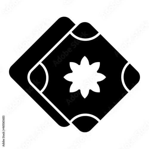 Tela Vector Handkerchief Glyph Icon Design