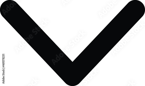 Fotografie, Obraz Swipe Down Vector icon that can easily modify or edit