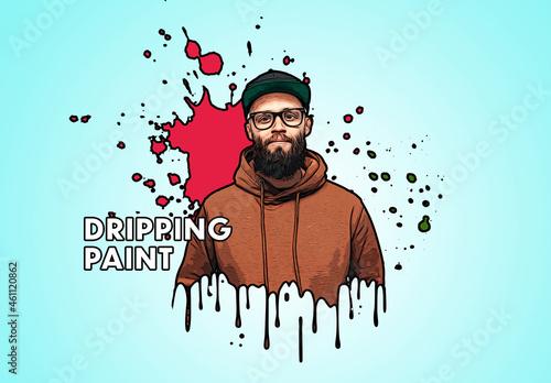 Comic Paint Drip Effect