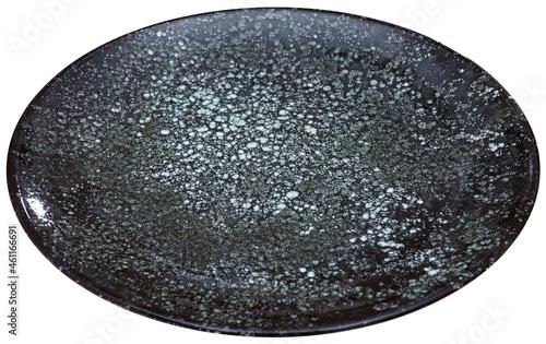 Canvas Empty black and white ceramic plate