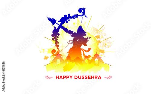 Obraz na plátně Dussehra vijayadashami festival concept for navratri and durga puja celebration