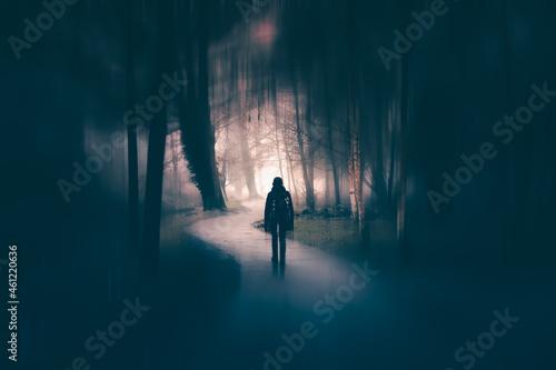 Horror halloween concept Fotobehang