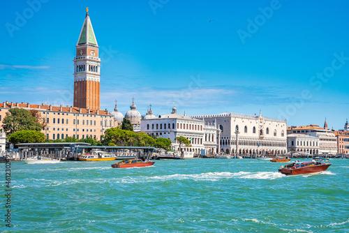 Fotografia St Mark's Campanile tower in Venice, Italy