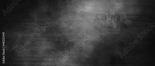 Obraz na plátně Dark gray cement scratches for the background