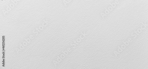 Tela Panorama of White genuine cow leather of the sofa texture and background seamles