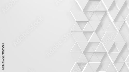 Photo タイル 白 ビジネス ジオメトリ シンプル 三角形 [別Verあり]