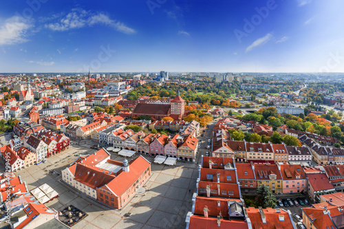 Olsztyn-miasto na Warmii w północno-wschodniej Polsce