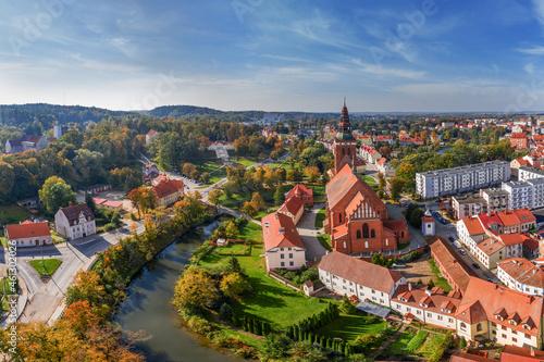 Lidzbark Warmiński-miasto na Warmii w północno-wschodniej Polsce