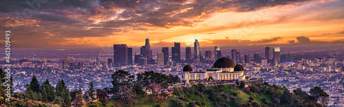 Fotografiet Los Angeles from Griffith park