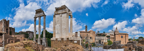Fotografia Panoramic view Imperial Forums of Ancient Rome