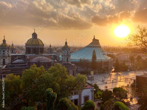 Billede på lærred Sunset over downtown Mexico City