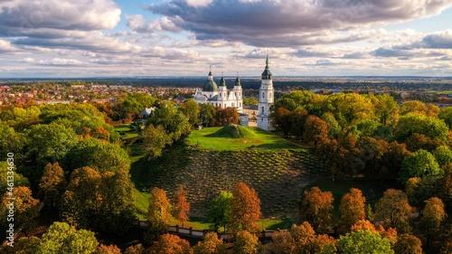Panorama Góry Chełmskiej, Sanktuarium Maryjne na Górze Chełmskiej.