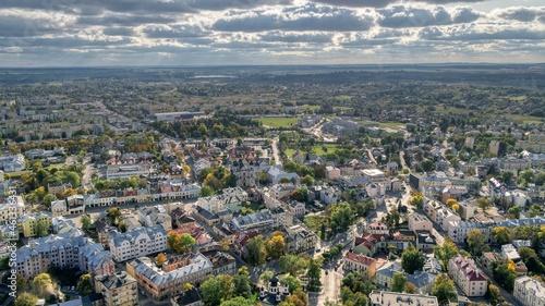 Foto Panorama miasta Chełm. Początek jesieni.