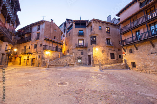 Fotografie, Obraz Albarracin Teruel Aragon Spain on July 2021: the village is surrounded by stony hills and the town was declared a Monumento Nacional in 1961