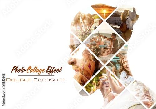 Photo Collage Double Exposure Effect Mockup