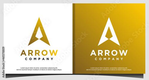 Foto Initial Letter A Arrow with Arrow head for Archer Archery Outdoor Apparel Gear H