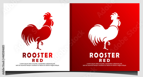Canvas Print Rooster Chicken Cock Poultry Farm Logo Graphic