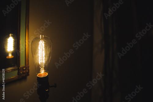 Incandescent bulb Fotobehang