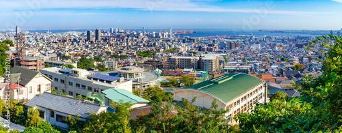 Photographie 神戸市灘区の風景 灘丸山公園にて 遠方にポートアイランド・六甲アイランドが見えます。