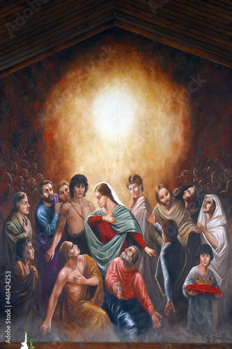 Fotografija Altarpiece on a high altar in the parish church of the Holy Spirit in Staglisce,