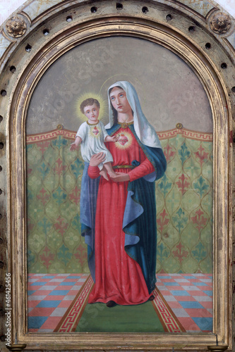 Immaculate Heart of Mary, altarpiece on the Virgin Mary altar in the Church of S Fototapeta