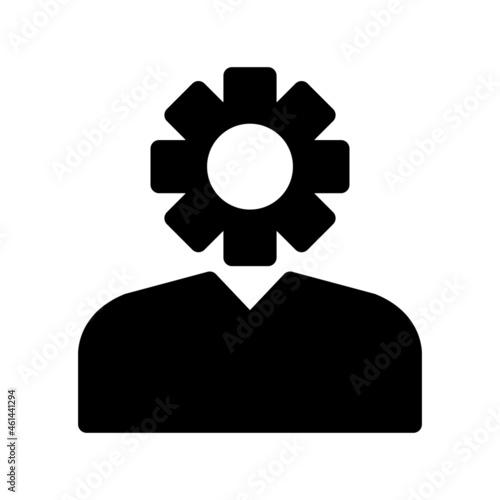 Canvastavla Administrator Glyph Vector Icon Design