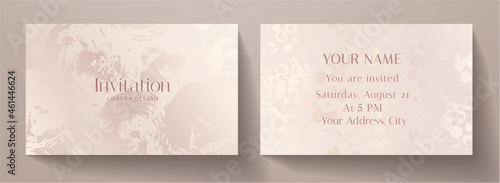 Billede på lærred Invitation card with luxury abstract paint texture