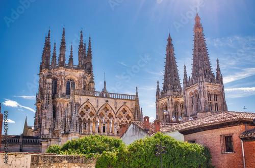 Valokuvatapetti Cimborrio y campanarios catedral gótica de Burgos, España