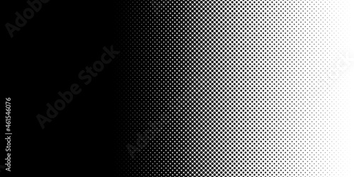 Black and white halftone, dotted, circles pattern, background, backdrop Fotobehang