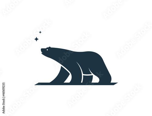 polar bear logo Fototapet