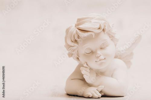 Billede på lærred angel statue