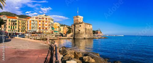 Canvastavla Beautiful italian coastal town Rapallo
