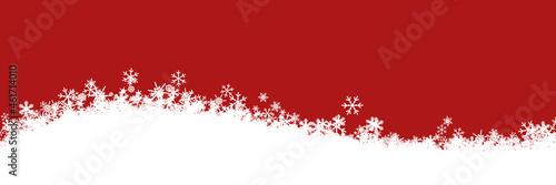 Schnee Landschaft zu Weihnachten als abstrakter Header
