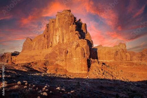 Fotografiet Arches National Park Sunset