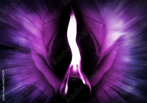 The Violet Flame of Saint Germain - Divine Energy - Transformation Fotobehang
