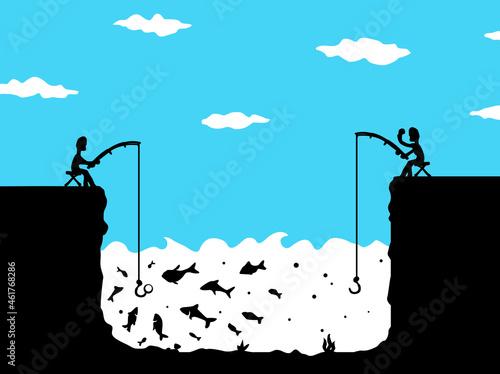 Photo Fishing Envy Cartoon