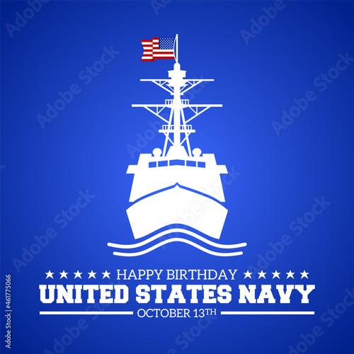 Fototapeta Happy Birthday United States Navy theme symbol icon