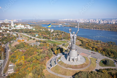 Fototapeta Motherland Monument on the territiry of National Museum of the History of Ukraine in the Second World War in Kyiv