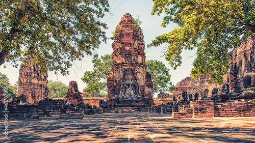 Fotografie, Obraz Wat Mahathat temple in Ayutthaya