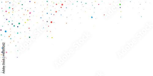 Canvas Watercolor confetti on white background