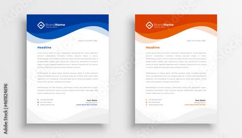 Fotografía modern company business letterhead template design