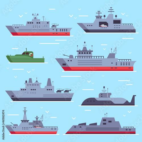 Fotografia Flat military boats