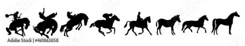 Photo horse silhouettes