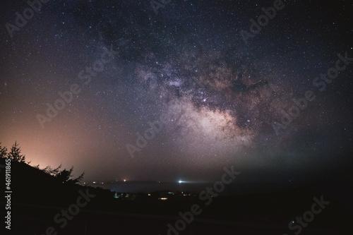 Obraz na plátne isle of man night sky