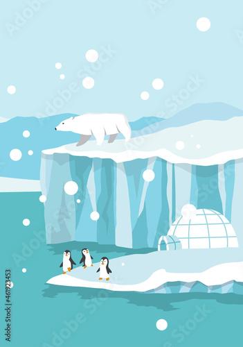 Obraz na plátně North pole arctic