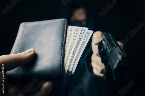 Obraz na plátně Armed robbery