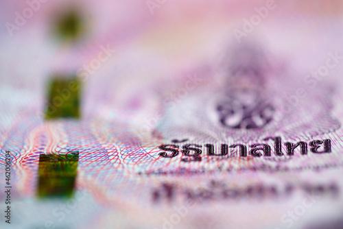 Fotografia, Obraz 500 baht banknote