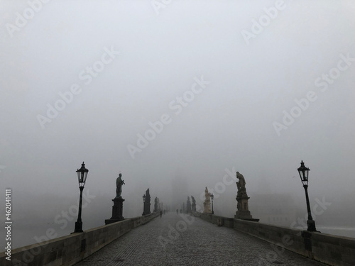 Obraz na plátně Thick thick fog in the magic city
