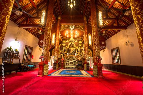 Obraz na plátně Church of The Emerald Buddha at Chiang Rai Province, Thailand.